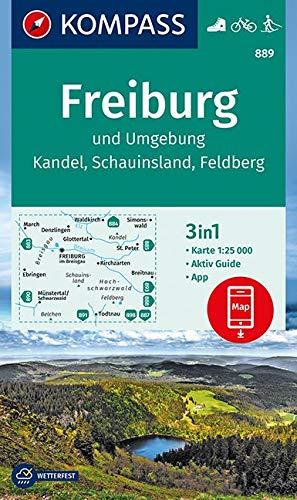 Freiburg und Umgebung, Kandel, Schauinsland, Feldberg: 3in1 Wanderkarte 1:25000 mit Aktiv Guide inklusive Karte zur offline Verwendung in der ... (KOMPASS-Wanderkarten, Band 889)