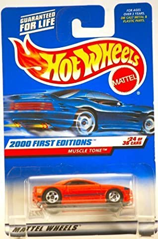 2000 - Mattel / Hot Wheels - Muscle Tone (Fiero: Red) - Pontiac - 2000 First Editions #24 of 36 Cars - 1:64 Scale Die Cast Metal - MOC - Limited Edition - Collectible by Hot Wheels