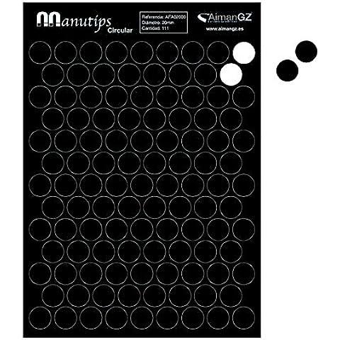 Imanes Flexibles para Fotos y Manualidades: Manutips circular 20 mm diámetro. (111 Unidades)