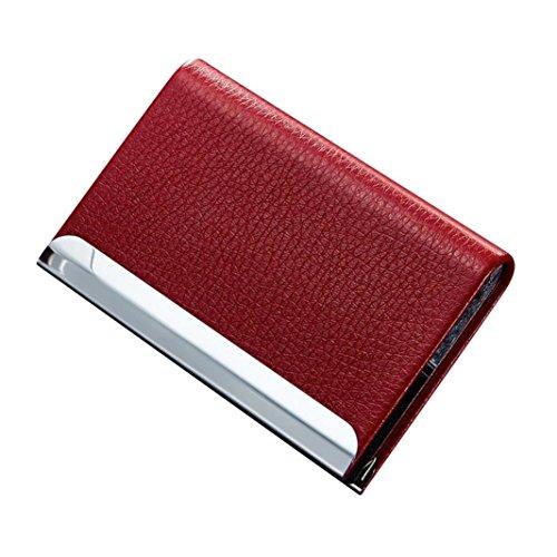 Hunpta Bank Kreditkarte Karte Halter Visitenkarte Fall Karte Paketkasten Rot