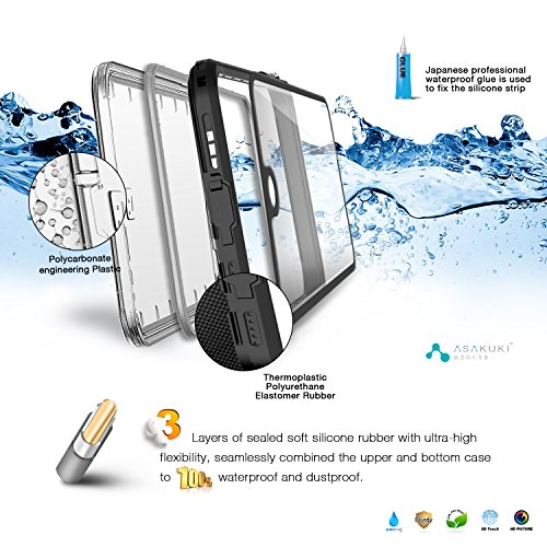 iPhone 7 Plus Case - IP68 Waterproof iPhone 7 Plus Accessories by ASAKUKI, Full Body Case with Screen Protector Shockproof Scratchproof Dustproof for iPhone 7 Plus, Black