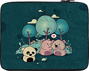 """Snoogg lonely panda 2655 15"""" inch to 15.5"""" inch to 15.6"""" inch Laptop netbook notebook Slipcase sleeve Soft case cover bag notebook / netbook / ultrabook carrying case for Macbook Pro Acer Asus Dell Hp Sony Toshiba"""