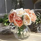 qnmbdgm Décoration Soie Artificielle Faux Fleurs Roses Floral Bouquet De Mariage De Mariée Hortensia Décor 2018 Style Européen Nouvel Ornement Faux Fleurs