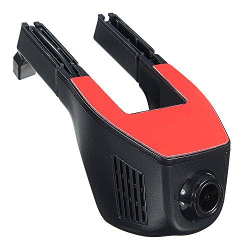 L(TM)1080P Versteckt Auto Kamera HD Dashcam mit Nachtsicht 4'' Bildschirm 170° Weitwinkel, Auto DVR Fahrzeug Dash Kamera mit G-Sensor ,WIFI und APP für IOS/Android ,Schwarz ()