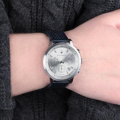 MASERATI Reloj Cronógrafo para Hombre de Cuarzo con Correa en Cuero R8871134004 de MASERATI