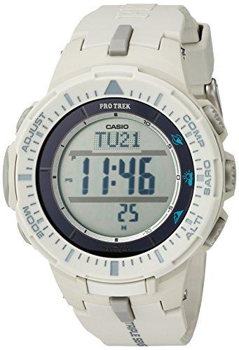 Casio Men's Digital Quartz Watch with Resin Strap PRG-300-8CR