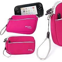 DURAGADGET Funda Protectora Rosa Para Consola WiiU - Con Bolsillo Externo Y Cuerda De Quita Y Pon - Hecha En Neopreno De Alta Calidad