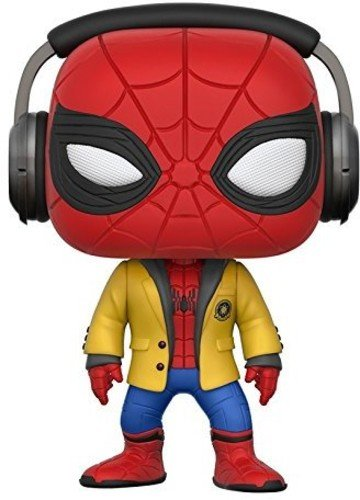 Funko - Heroes Pop Bobble Marvel Homecoming Spider-Man with Headphones, 21660