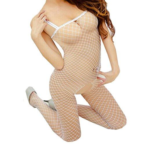 ♥ Loveso ♥ Damen Unterwäsche 2017 Frauen mit Charme Mesh Oberfläche Unterwäsche (One size (suit S-XL), (Roten Body Suit Spandex)