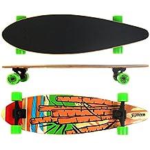 Longboard Maxofit No. 05 Cartoon, 84 Cm, 7 Stratti Di Acero, Drop Down, Azione Fino A Esaurimento Della Merce - Azione Longboard Skateboard