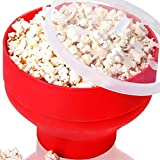 Virtue DlY High Quality 280g Collapsible Silicone Microwave Hot Air Popcorn Folding Silicone Popcorn Bowl Eco-Friendly Silicone
