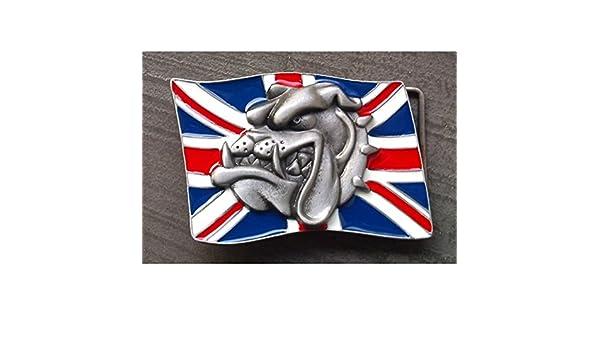 hotrodspirit - boucle de ceinture drapeau anglais et tete de bulldog rock   Amazon.fr  Vêtements et accessoires 0c2d3a79920