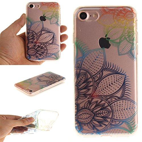 Voguecase® für Apple iPhone 7 Plus 5.5 hülle, Schutzhülle / Case / Cover / Hülle / TPU Gel Skin (Pflaumen 16) + Gratis Universal Eingabestift Bunte Blätter 01