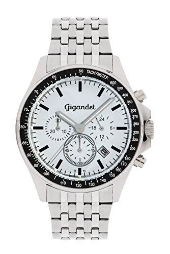 Gigandet Volante Men's Analogue Chronograph Quartz Watch White Silver G3-012