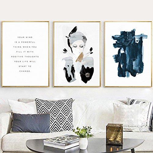 Abstrakte Mädchen (bdrsjdsb Brief Mädchen Abstrakte Kunst Leinwand Wandmalerei Poster Bild Schlafzimmer Home Cafe Decor EIN* 30 cm x 40 cm)