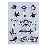 Amazingdeal365 Briefmarke Transparente Silikonstempel Set Text - Clear Stamps - Stempel -Mit Vielfalt-teilig - Schneiden Schablonen (6)