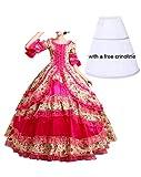 Nuoqi reg;Damen Satin Gothic Victorian Prinzessin Kleid Halloween Cosplay Kostüm (40, CC2377C)
