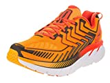 Hoka One One Men's Clifton 4 Saffron/Red Orange Running Shoe 8. 5 Men US