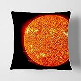 Grande scatola Art 'Pietra di superficie del sole spazio' cuscino cuscino, multicolore, 17x 43,2cm