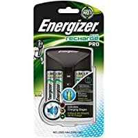 Energizer Chargeur Piles Rechargeables, Pour AA et AAA Piles (4 Piles AA Incluses)