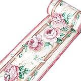 yenhome Floral Wasserdicht PVC Selbstklebende Tapete Bordüre Abziehen und Aufkleben Scroll Wand Bordüre Wand Aufkleber Home Decor 10cm X 32,8Feet