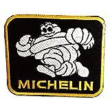 Michelin Logo Sponsoren Formel 1 Michelin Reifen Patch ''7,7 x 6,2 cm'' - Aufnäher Aufbügler Applikation Applique Bügelbilder Flicken Embroidered Iron on Patches