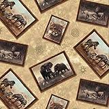 Großes Quadrat Flachland von Afrika Flicken Elefant Zebra
