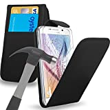 Lederklappetui Abdeckungsbeutel mit gehärtetem Glas -Schirm-Schutz für alle neuen Samsung Galaxy Models Galaxy S6/S6 Edge/S5/S4/ALPHA/Ace 4/A3/A5/A7/Young 2