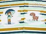 Mamasliebchen Jersey-Stoff Meterware Rainy Day #Honey Mint (ca. 0,55m - 1 Panel)