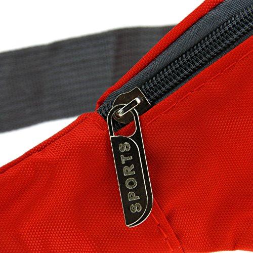 Dammen Herren Brusttasche Brustbeutel Reisetasche modell Geldbörsen Geldbeutel Tasche Freizeit Arbeit Sport Rot