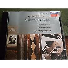 Mendelssohn: Symphony No.4 'Italian'. A Midsummer Night's Dream