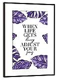 artboxONE Poster mit Rahmen Schwarz (Metallic) 45x30 cm When Life Blurry Adjust Focus von Planeta444