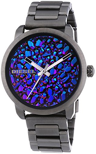 Diesel Flare Women's Quartz Watch with Multicolour Dial Analogue Display and Black Stainless Steel Bracelet Dz5428