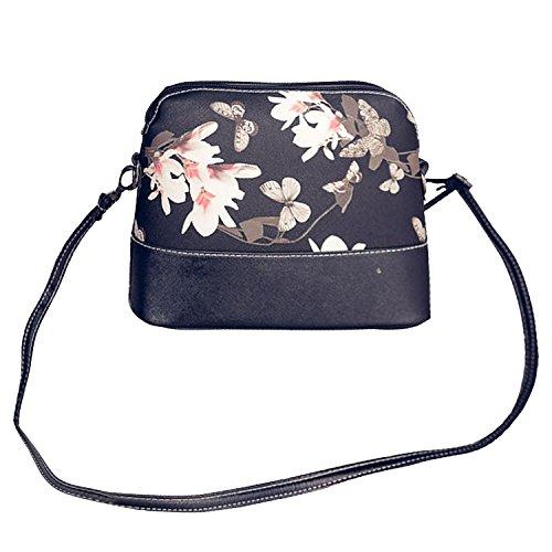 Gosear Frauen Damen Mädchen PU Leder Mode Schulter Tasche Umhängetaschen Schale Tasche mit Schöne Drucken Muster A (Schulter Leder Tasche Drucken)