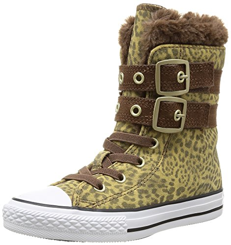 r All Star Junior Animal Fur Hi 384520, Mädchen Sneaker, Braun (91 LEOPARD), EU 28 (Kinder Converse Leopard)
