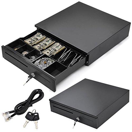 Duty Heavy Kunststoff-schubladen (szfmmy® Cash bis Schublade Abnehmbare 24V Einsatz Shop Cash Epson Aufbewahrungsbox 5Bill 5Medaille Tablett 40cm Push Touch offen)