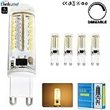 ELINKUME 5X 3.5W Dimmable Ampoule LED 70 SMD3014 G9 Blanc Chaud Angle de Faisceau 360°400LM AC 220V 3000K Économie d'énergie LED