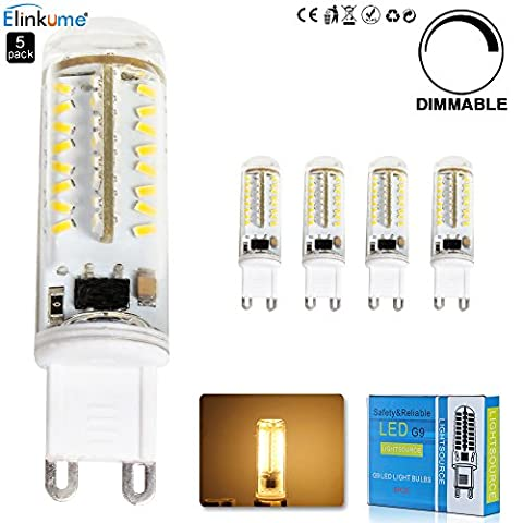 5X 3.5W Dimmable Ampoule LED 70 SMD3014 G9 Blanc Chaud