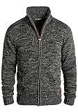!Solid Pomeroy Herren Strickjacke Cardigan Grobstrick Winter Pullover mit Stehkragen, Größe:XXL, Farbe:Black (9000)