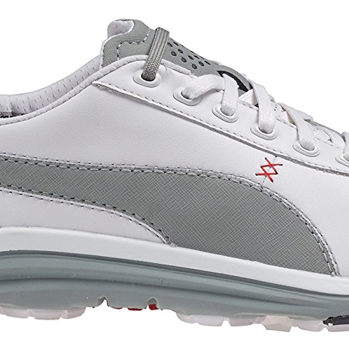 Puma 2015/16 Bio Drive Leather Golf Shoe Bianco - White/Limestone