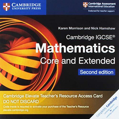 Cambridge IGCSE Mathematics core and extended. Cambridge Elevate teacher's resource access card. Per le Scuole superiori. Con espansione online (Cambridge International IGCSE)