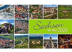 Sachsen von oben kompakt 2020: Tischkalender