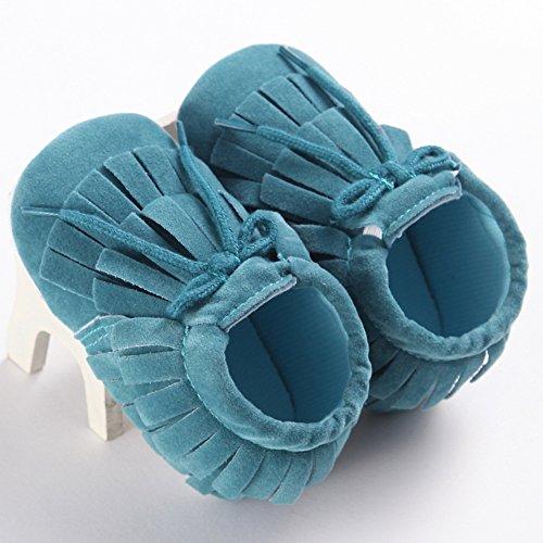 Fire Frog  Baby Sneakers, Baby Mädchen Lauflernschuhe Himmelblau