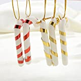 6PCS Christmas Candy Sticks Cane Tree Hanging Ornaments Party Xmas Decoration