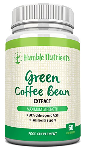 Green Coffee Bean Extract Maximum Strength 50% Chlorogenic Acid 60 Capsules for a Full-Month Supply ...