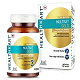 HealthKart Multivit Gold, with Multivitamin, Multimineral and Natural Extracts (90 Capsules)