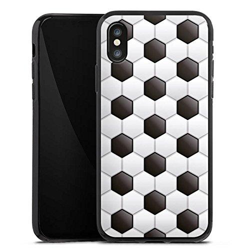 Apple iPhone 4 Silikon Hülle Case Schutzhülle fussball fußball muster Silikon Case schwarz