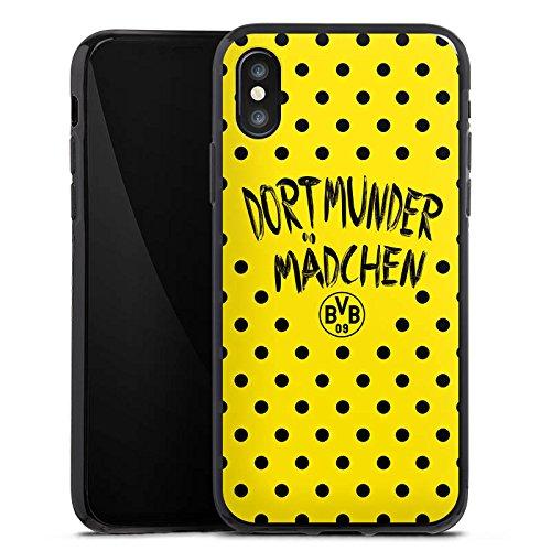 Apple iPhone X Silikon Hülle Case Schutzhülle Dortmunder Mädchen Borussia Dortmund BVB Silikon Case schwarz