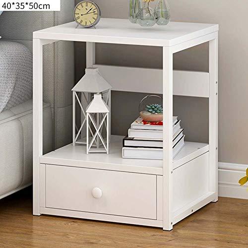 IG Haushaltsnachttische Einfacher Nachttisch aus Holzwerkstoff, mit Schublade und Regalaufbewahrung, Schlafzimmer-Nachttisch mit Spind und Aufbewahrungsbox,# 2 - 2 Schubladen Naturholz-nachttisch