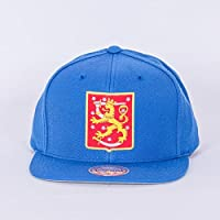 Eishockey Fanartikel Mitchell & Ness World Cup Of Hockey Team Finland Blue Adjustable Snapback